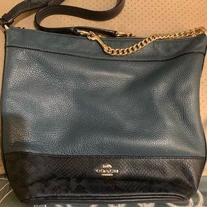 Blue Coach bag $175  brown khaki Coach bag $275